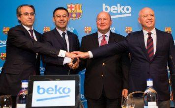 Beko logosu 4 yıl boyunca, FC Barcelona'nın yeni formasının sol kol kısmında ve antrenman kitlerinin üzerinde yer alacak.